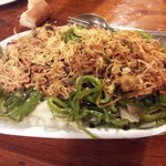 Bacalao con pimiento y cebolla