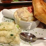 Shipwrecked Pie - combo of many fishes and shellfish in fennel lobster cream sauce