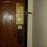 door with 1/2 secutiry lock