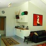 Blue Ginger Cottage kitchen/lounge