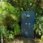 Blue Ginger Cottage Hot/cold outdoor shower!