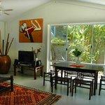 Blue Ginger Cottage Dining lounge area