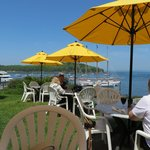 Dining on the lawn at the Bar Harbor Inn.