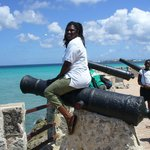 Astrid the Cannon at Hilton Barbados