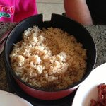 Fried Rice...it was basically brown steamed rice, no veggies or eggs :(