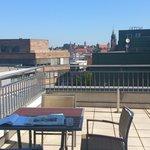 Blick von der Penthouse-Suite zur Altstadt