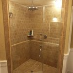 The en suite bathroom with spa-inspired shower in the Celestial Suite!