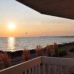 Depuis notre balcon, magnifique coucher de soleil