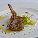 New Zealand Lamb chop and lamb in the old fashioned way with fennel sauce