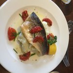 My Sea bass fillet on a bed of mashed potato
