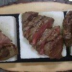 selezione di tagliate : cinta senese agnello e entrecote di Angus