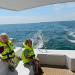 At sea, in the sun, wouw!