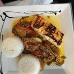Teriyaki Salmon - again generous portions