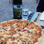 Bada Bing pizza at Corky's Bistro - 2 Thumbs Up!