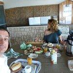 At breakfast