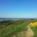 On the top of Hengistbury head, Christchurch Bay