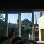 View of Hagia Sophia from our bed.