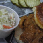 Pulled Pork Sandwich and Cole Slaw