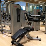 The hotel gym.