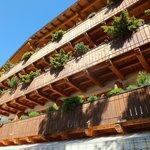 Balconies of the Resort from the garden
