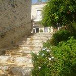 l'escalier d'accès à la maison