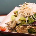 Salmon Skin Salad - ST Life Top 100 dish in Singapore!