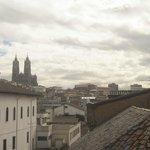 Vista desde el balcón hacia el centro histórico.