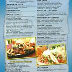 fajitas,seafood,vegetarian dishes