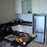 Club suite kitchen area