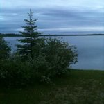 Evening view of lake from back yard.
