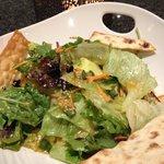 Salad with chicken and citrus vinegar