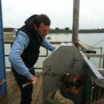 Séance de pêche au carrelet