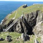 Mizen Head with pedestrian bridge between cliffs