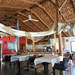 Whale bone in restaurant