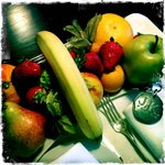 Fresh fruit every day delivered to our room