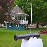 Cannon and gazebo