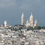Sacre-Coeur from top of Eiffel Tower.