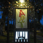Alwun sign at night-1st Friday