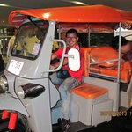 One of our guys, Willie having a go at the hotel's tuktuk.