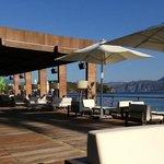 the bar on the beachfront