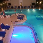 Pool area, seen from first floor
