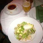 Goulash soup and asparagus