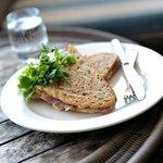 Grilled shepherd's loaf sandwich