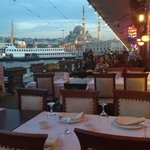 one of the best views in Istanbul at sunset