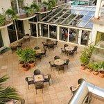 The indoor/outdoor dining area
