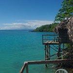 Vue du balcon sur le lagon
