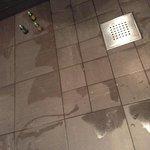 bathroom floor 2 hours after shower