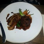 Duck with hash and veg