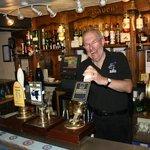 Tony pulling a pint