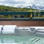 Mountain views from the rooftop hot tub at the Inn at Lost Creek (67599022)